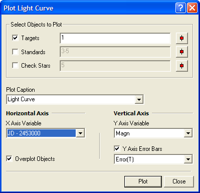Plot Light Curve